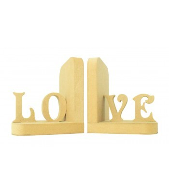 18mm Freestanding MDF 'LOVE' Pair of Bookends