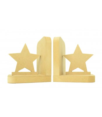 18mm Freestanding MDF 'Star' Shape Pair of Bookends