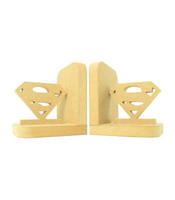 18mm Freestanding MDF 'Superman Logo' Shape Pair of Bookends