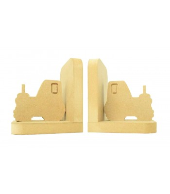 18mm Freestanding MDF 'Tractor' Shape Pair of Bookends