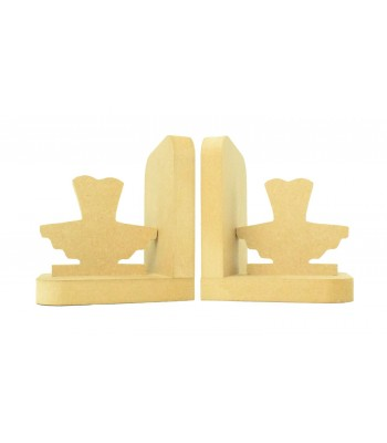 18mm Freestanding MDF 'Ballet Tutu' Shape Pair of Bookends