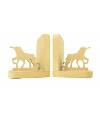 18mm Freestanding MDF 'Unicorn' Shape Pair of Bookends