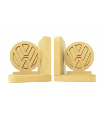 18mm Freestanding MDF 'VW Camper' Shape Pair of Bookends
