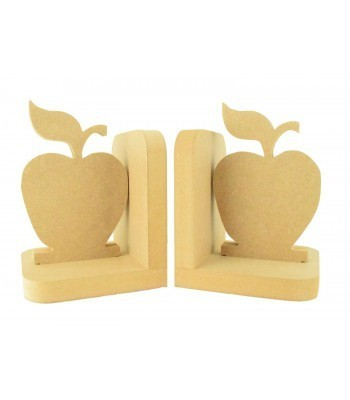 18mm Freestanding MDF Apple Pair of Bookends