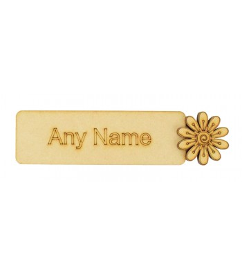 Laser cut Personalised Bookmark with 3D Flower Shape