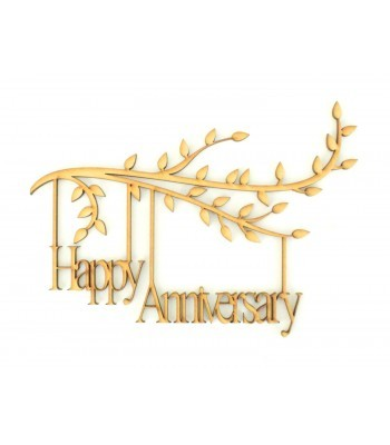 Laser Cut Box Frame Branch - Happy Anniversary