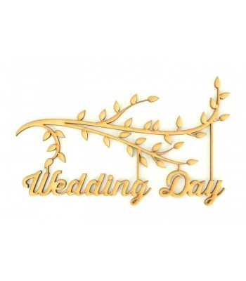 Laser Cut Box Frame Branch - Wedding Day