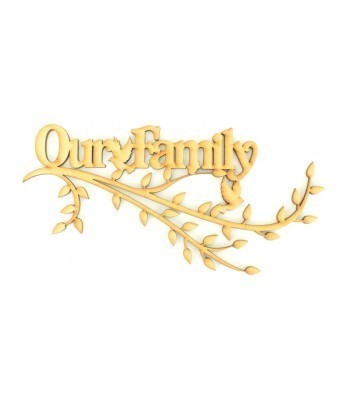 Laser Cut Box Frame Branch - Our Family