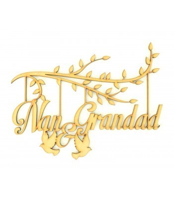 Laser Cut Box Frame Branch - Nan & Grandad