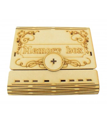 Laser Cut Decorative Wedding USB Storage Folding Book Gift Box