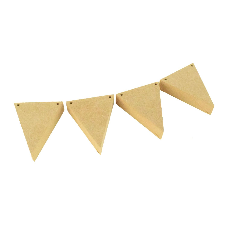 MDF bois Bunting Drapeaux et triangles 3 mm MDF Craft Conseil de signes et plaques