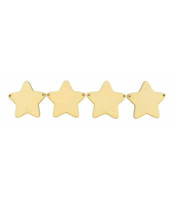 Laser Cut Plain Star Bunting - Pack of 10