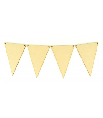 Laser Cut Plain Traditional Bunting Flags - Pack of 10