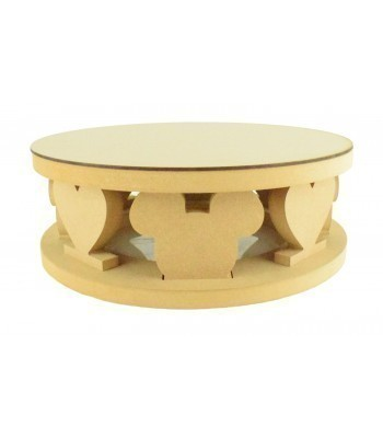18mm MDF Round Cake Stand - Hearts and Mouse Head Shape Design - Variety of Sizes Available