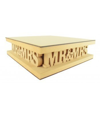 18mm MDF Square Cake Stand - Mr&Mrs Design - Variety of Sizes Available