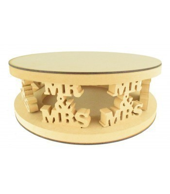 18mm MDF Round Cake Stand - Mr & Mrs Design - Variety of Sizes Available