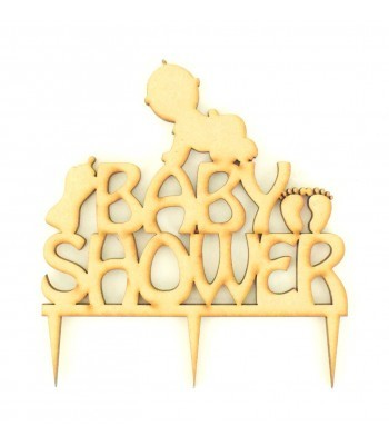 Laser Cut  Baby Shower Cake Topper
