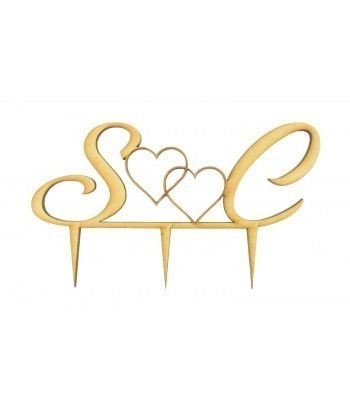 Laser Cut  Personalised Couples Initials Wedding Cake Topper