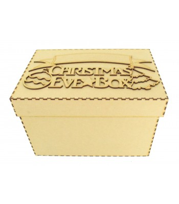 Laser cut 'Christmas Eve Box' Bauble & Tree Design with Blank Banner To Add Vinyl - Box Options