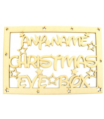Laser Cut Personalised 'Christmas Eve Box'  Large Christmas Box Frame Top - Star Design