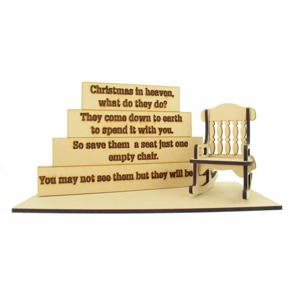 Christmas In Heaven What Do They Do Wooden Block And Chair