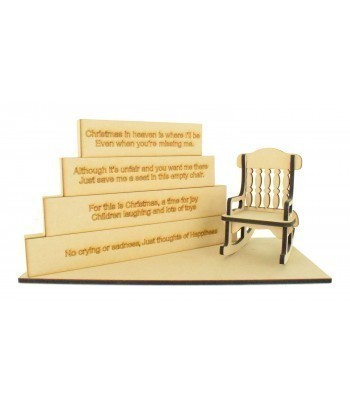 18mm Stacking Blocks Set with 'Christmas in heaven is where I'll be...' Wording Plaques