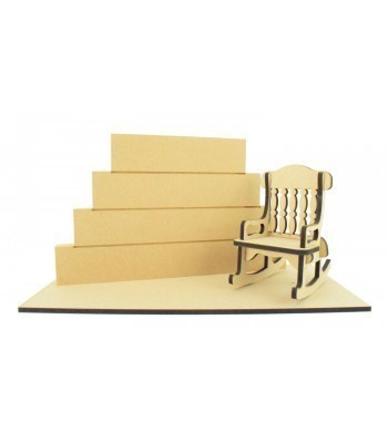 18mm Stacking Blocks with Laser cut Rocking Chair and Base Set Bulk Buy