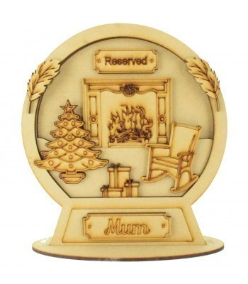 Laser Cut Personalised 3D Detailed Layered Snow Globe on a Stand - Christmas in Heaven