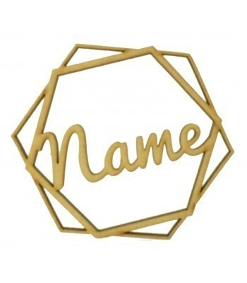 Laser Cut Personalised Hexagon Decoration - 100mm Size