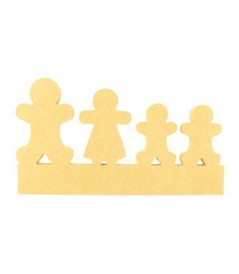 18mm Freestanding Gingerbread Family