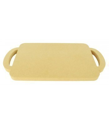 18mm Router Cut MDF Plain Christmas Eve Tray with Handles