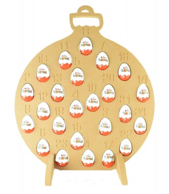 Super sized 18mm Freestanding Christmas Kinder Egg Holder Advent Calendar - BAUBLE