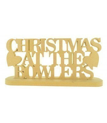 18mm Freestanding Personalised `Christmas At The...` Sign with Hearts on a Stand