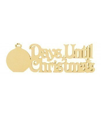 18mm Freestanding 'Days Until Christmas' Large Christmas Countdown - Bauble Design Bulk Buy PACK OF 4
