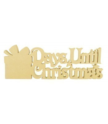 18mm Freestanding 'Days Until Christmas' Large Christmas Countdown - Present Design BULK BUY PACK OF 4