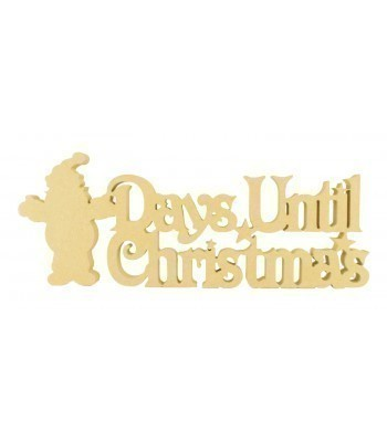 18mm Freestanding 'Days Until Christmas' Large Christmas Countdown - Santa Design BULK BUY PACK OF 4