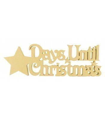 18mm Freestanding 'Days Until Christmas' Large Christmas Countdown - Star Design BULK BUY PACK OF 4