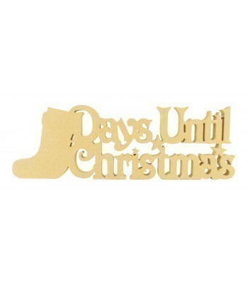 18mm Freestanding 'Days Until Christmas' Large Christmas Countdown - Stocking Design BULK BUY PACK OF 4