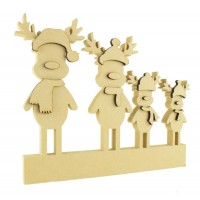 18mm Freestanding Reindeer Family with 6mm 3D Accessories