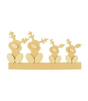 18mm Freestanding Cute Reindeer Family with 3mm 3D Noses and Feet
