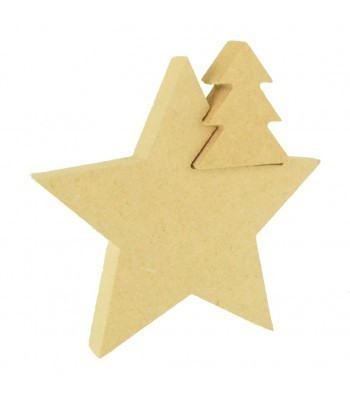 18mm Freestanding MDF Mini Christmas tree in a Star