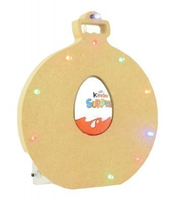 18mm Freestanding Christmas Bauble Kinder Egg Holder with LED Lights