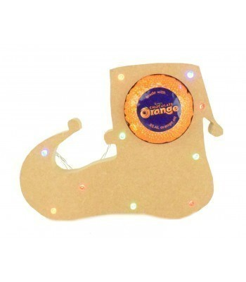 18mm Freestanding Christmas Elf Shoe Terry's Chocolate Orange Holder with LED Lights