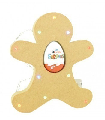 18mm Freestanding Christmas Gingerbread Kinder Egg Holder with LED Lights