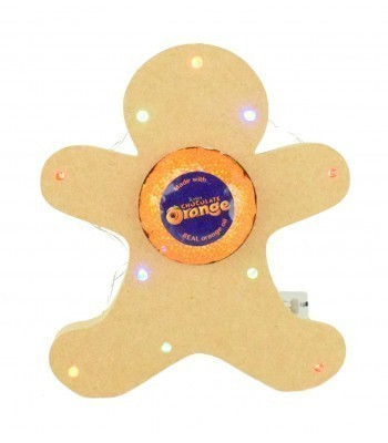 18mm Freestanding Gingerbread Terry's Chocolate Orange Holder with LED Lights