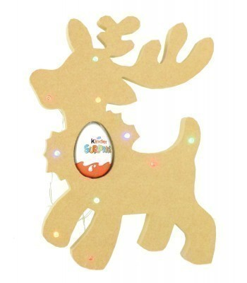 18mm Freestanding Christmas Reindeer Kinder Egg Holder with LED Lights