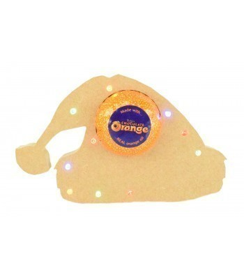 18mm Freestanding Christmas Santa Hat Terry's Chocolate Orange Holder with LED Lights