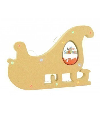 18mm Freestanding Christmas Sleigh Kinder Egg Holder with LED Lights