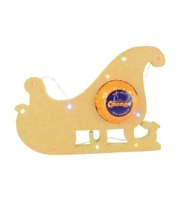 18mm Freestanding Christmas Sleigh Terry's Chocolate Orange Holder with LED Lights