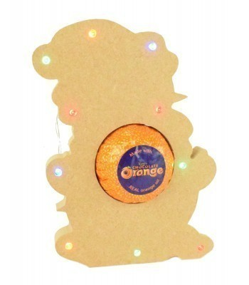18mm Freestanding Christmas Snowman Terry's Chocolate Orange Holder with LED Lights